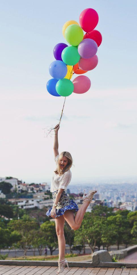 Pas pratique de se promener avec des ballons d'helium mais faut avouer que c'est la classe...
