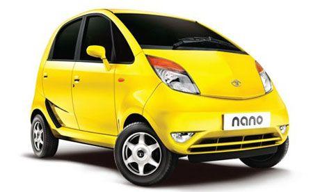 Tata Nano, the world's cheapest car, produced by Indian company Tata Motors