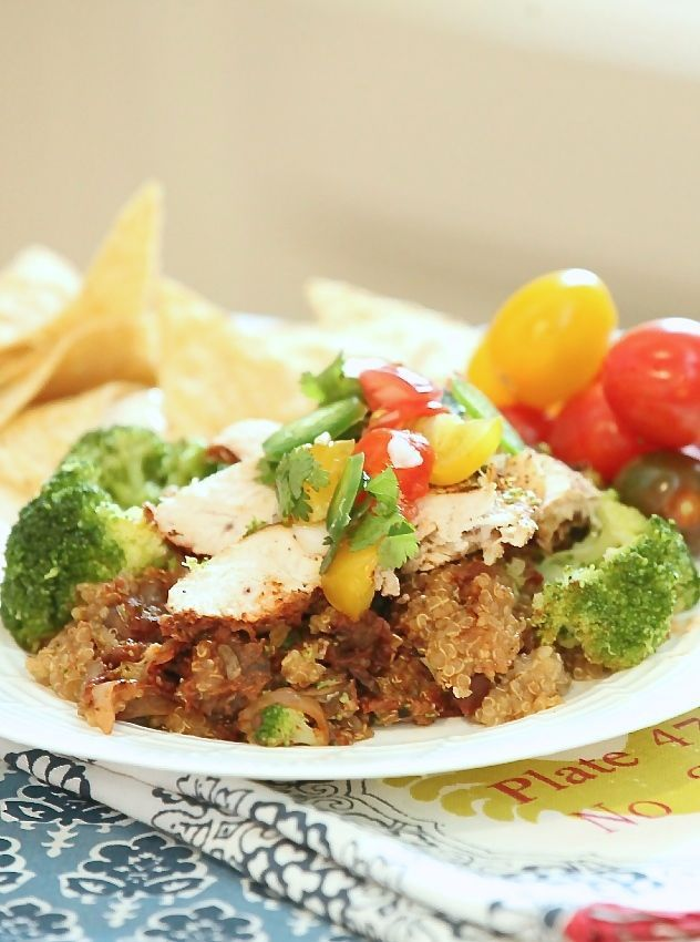 check out slow cooker chicken enchilada quinoa bake low