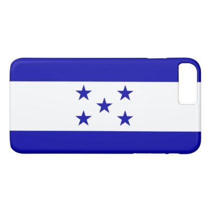 Honduras flag iPhone 8 plus/7 plus case - blue gifts style giftidea diy cyo