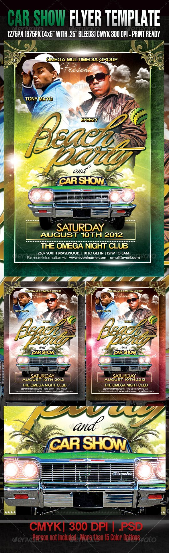 Beach Party And Car Show Template  Print Templates Flyer