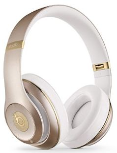Gold Beats headphones