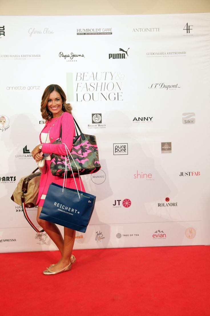 Jana Ina Zarrella bei der Beauty&Fashion Lounge/Gentlemen Corner. © REICHERT+ COMMUNICATIONS