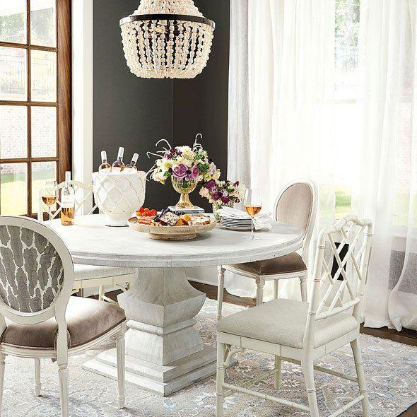 Andrews Pedestal Dining Table Ballard Designs Cute Living Room