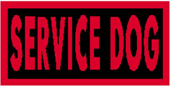 SERVICE DOG Patch W// VELCRO® Brand Fastener Morale Tactical Emblem Red