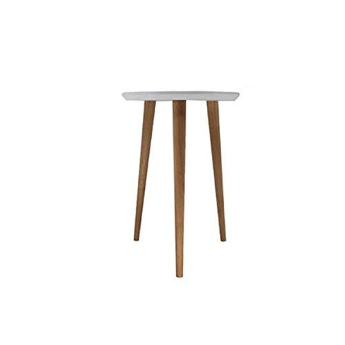 Wynzybz Solid Wood Round Small Coffee Table Simple Modern