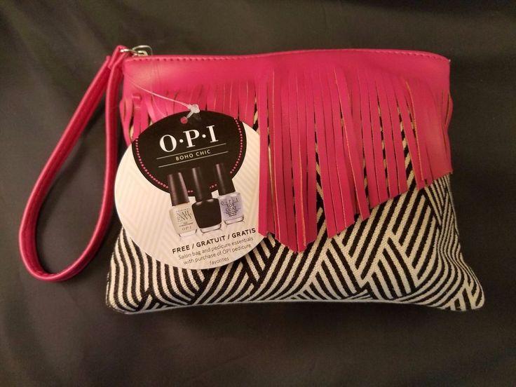 OPI nail polish pedicure set in Boho Chic salon bag _ Pedi essentials kit #OPI