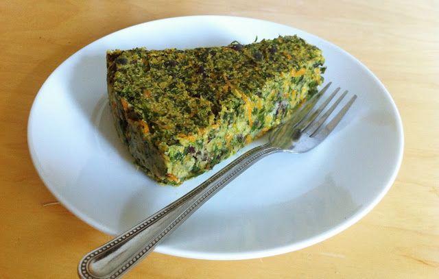 De Plantaardige Keuken: Spinazie Polenta Taart