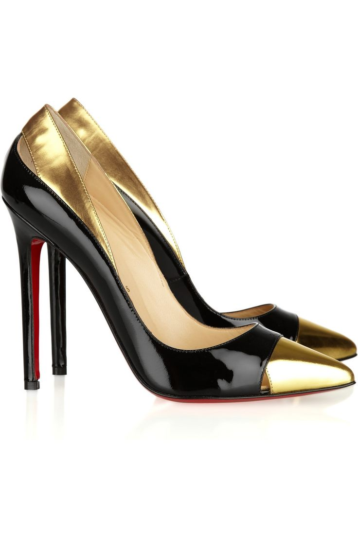 Christian Louboutin  Duvette 120 metallic and patent-leather pumps  £425