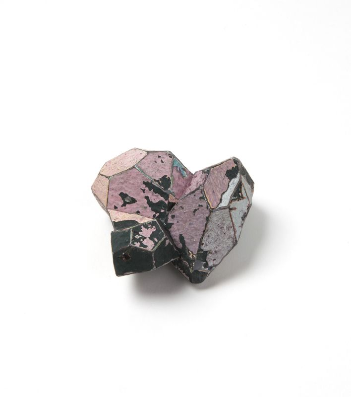 "Carina Chitsaz-Shostary ""Break of dawn"", brooch, 2013. Graffiti, silver, stainless steel. Photographer: Mirei Takeuchi"