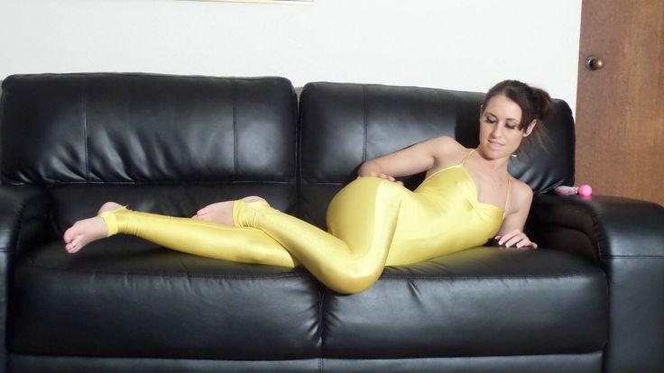 Jess West Swimsuit Full Body Spandex Lycra Leotard Catsuit Shiny DVD Video | eBay