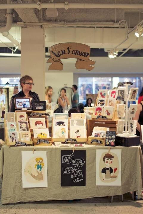 Craft fair set up for prints