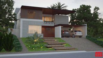 Projeto de uma Casa Contemporânea - Ribeirão Preto - SP - Projeto: MB Arquitetura e Interiores