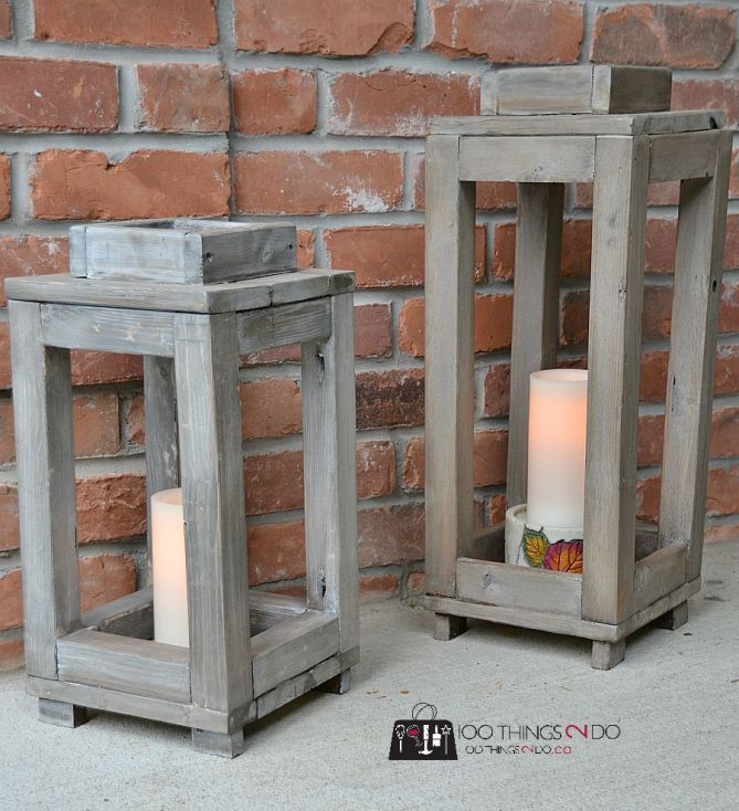 25 best ideas about rustic lanterns on pinterest rustic for Home decor 91711