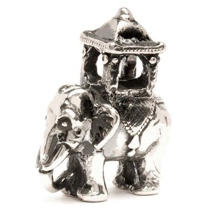 """Indian Elephant - """"An Indian elephant carrying a howdah on its back. The venerable Asian elephant is still used for transport and processions all over India, and is highly respected in many religions."""" #trollbeads"""