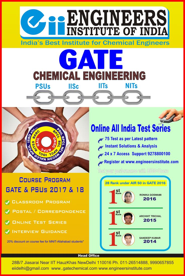 Poster design for coaching institute - Eii Is The Best Institute For Gate Chemical Coaching In Delhi For More Information Visit