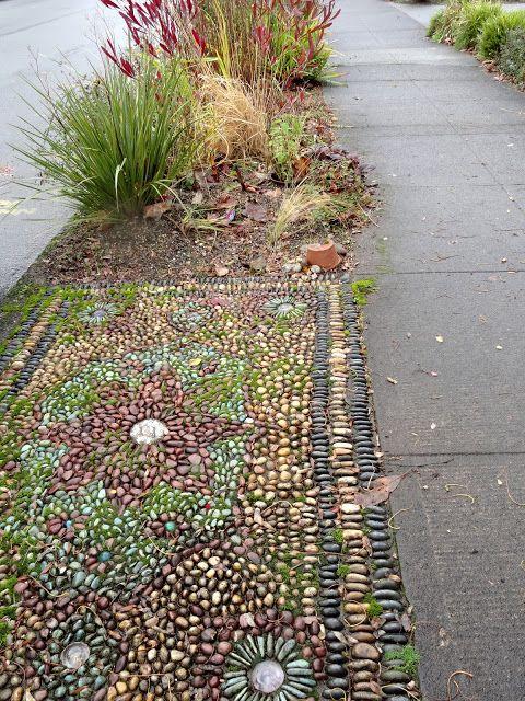 27 best park strips images on pinterest landscape design for Mosaic landscape design
