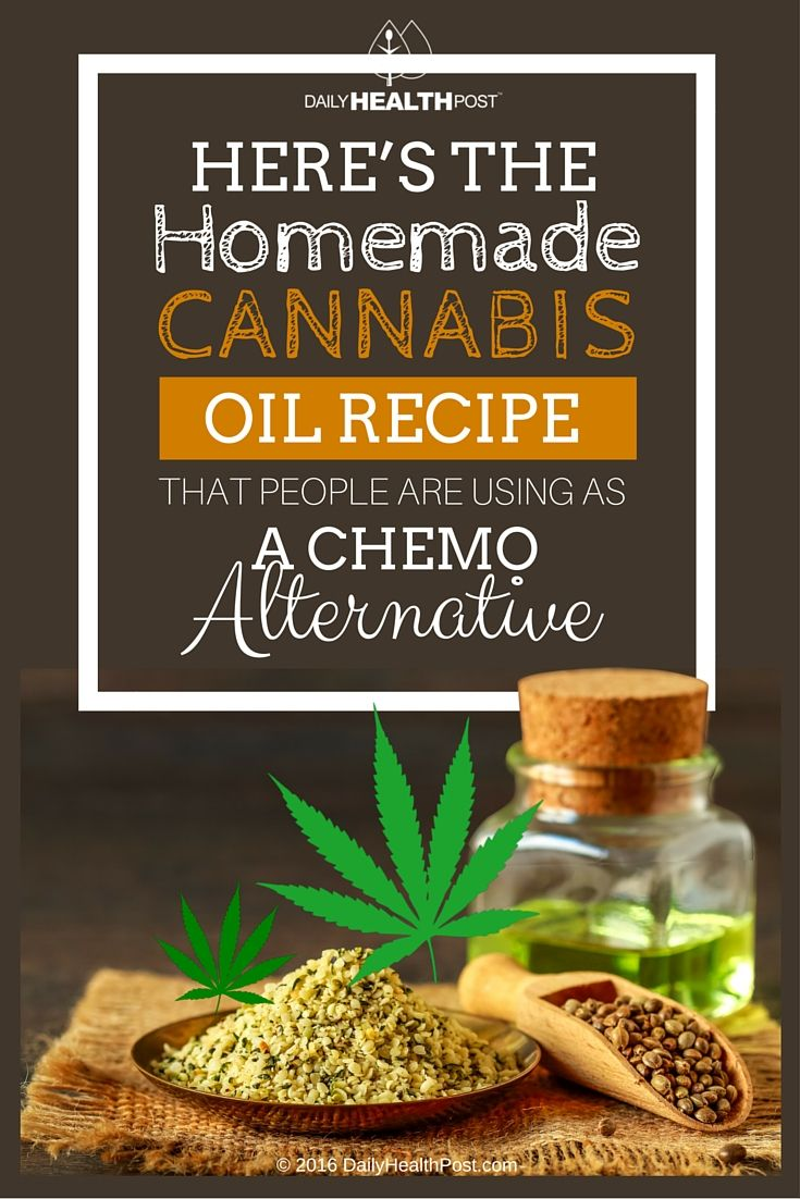 Here's The Homemade Cannabis Oil Recipe That People Are Using as a Chemo Alternative via @dailyhealthpost | http://dailyhealthpost.com/heres-the-homemade-cannabis-oil-recipe-that-people-are-using-as-a-chemo-alternative/