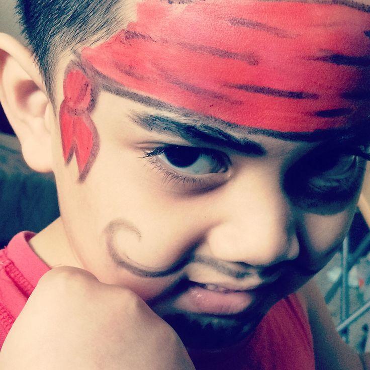 Bilal on pirate facepaint