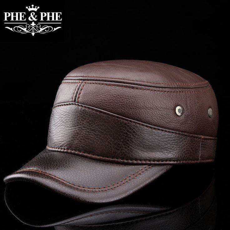 Men's leather Korean men's head layer cowhide Kepi autumn and winter outdoor leisure cap(China (Mainland))