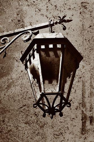 Sepia Street Lamp #TuscanyAgriturismoGiratola