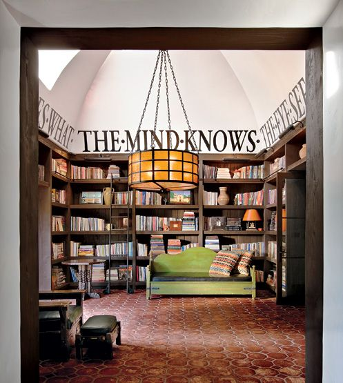 Diane Keaton's library.  Love!