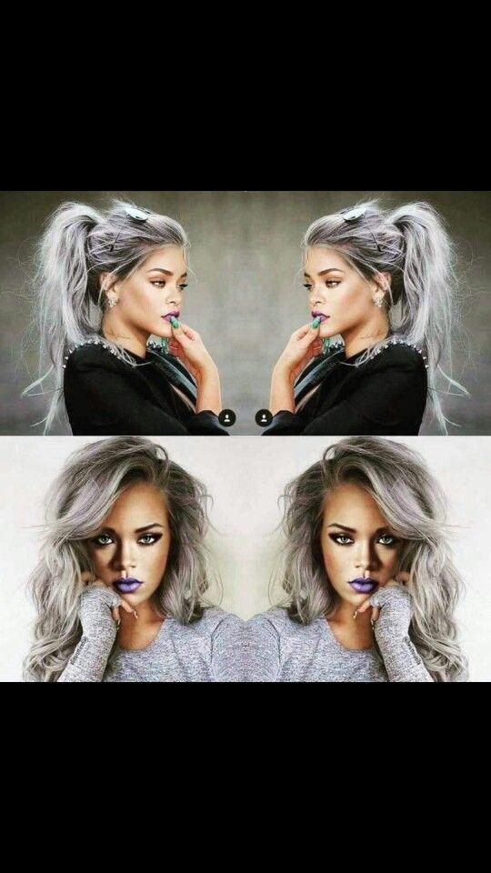 Bellami Silver Extensions Rihanna Photoshop Hair