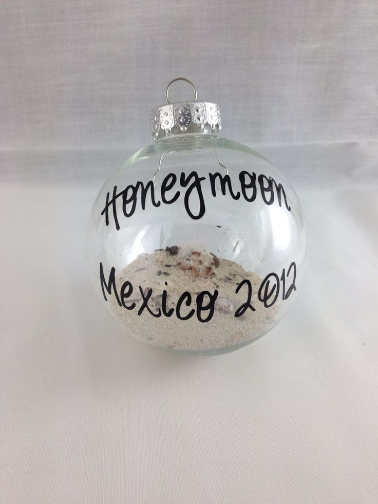 Save sand from your honeymoon to make an ornament!