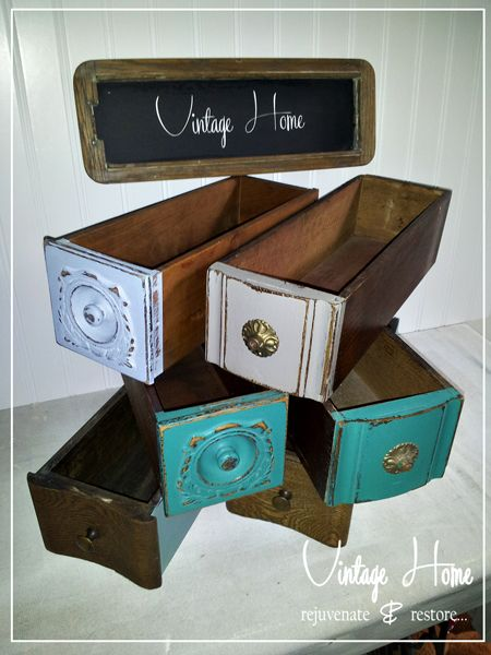 Vintage Sewing Machine Cabinet drawers... the uses are endless!