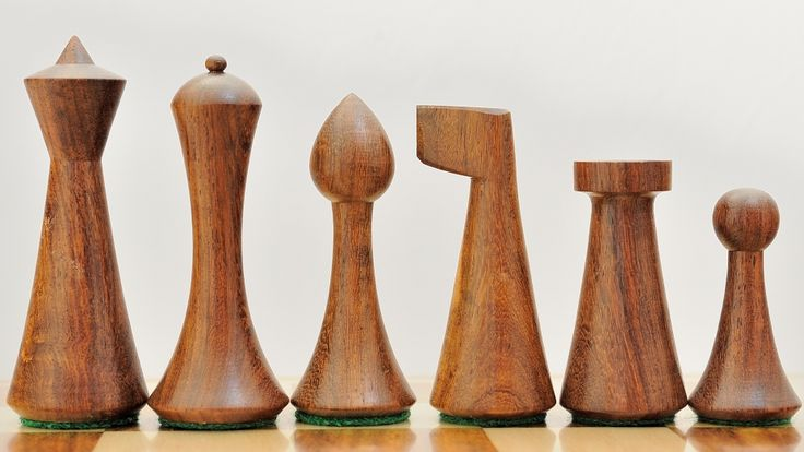 Wooden Weighted Chess Set Shesham Wood Pieces