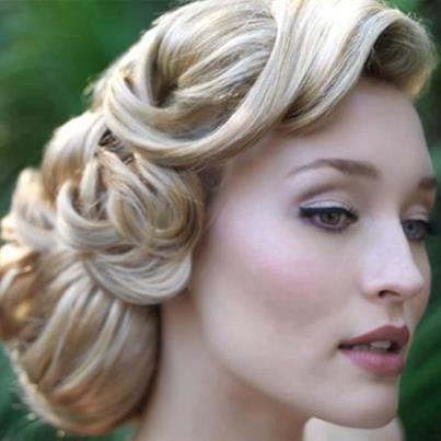 Beautiful Grace Kelly Hollywood #wedding hairstyle - Bridal Hair Couture