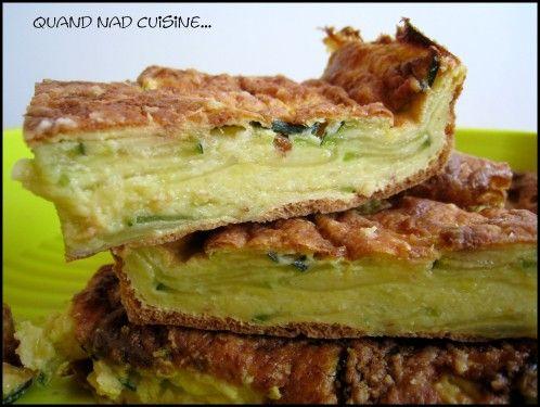 Gâteau invisible aux courgettes, curry et parmesan - Quand Nad cuisine...