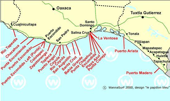 Oaxaca-Chiapas - Surfing in Oaxaca-Chiapas, Mexico - WannaSurf, surf spots atlas, surfing photos, maps, GPS location