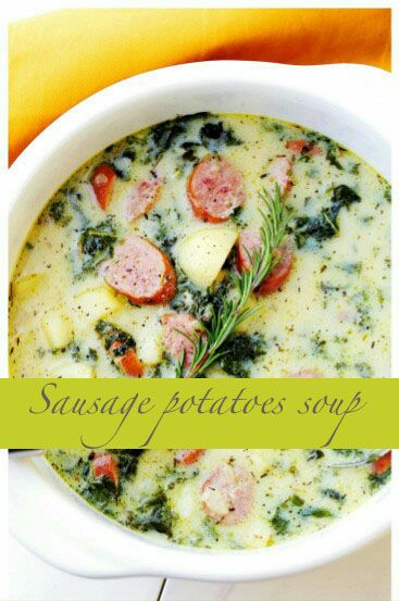 Yummy sausage potatoes soup | Best cooking recipes, world cuisines