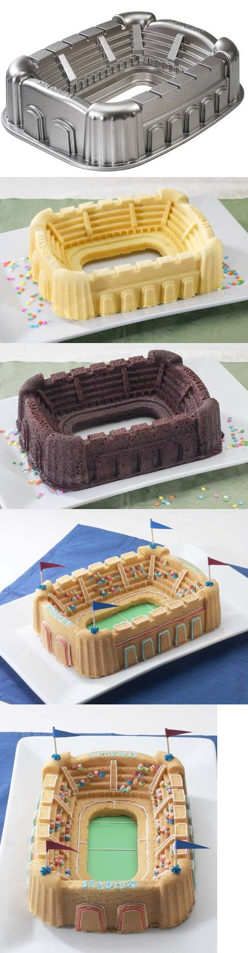 Nordic Ware Pro Cast Stadium Pan, Support your home team on game day with a cake made in this unique Stadium Bundt Pan. Whether the game is soccer, football, basketball, baseball, or hockey, this pan will make you a winning host. Cake..., #Kitchen, #Specialty & Novelty Cake Pans, $49.99