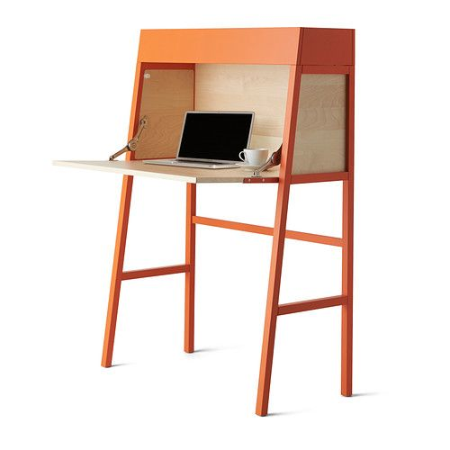 Simple design and sleek, clean lines make for furnishings that never go out of style. The IKEA PS 2014 secretary adds a pop of color, too!