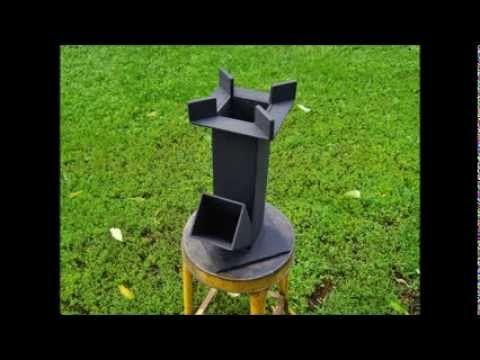 Scrap Iron Rocket Stove Test Burn - YouTube
