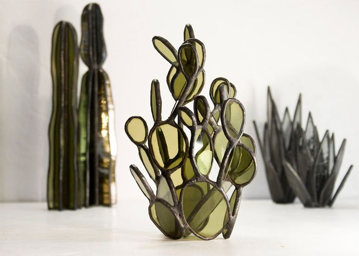 Influenced by elements of both architecture and illustration, artist Lesley Green (owner of Bespoke Glass) channels modern design while working with stained glass and glass tile. Her works have traditionally been quite geometric, however recently she has focused on more organic shapes, like in her l