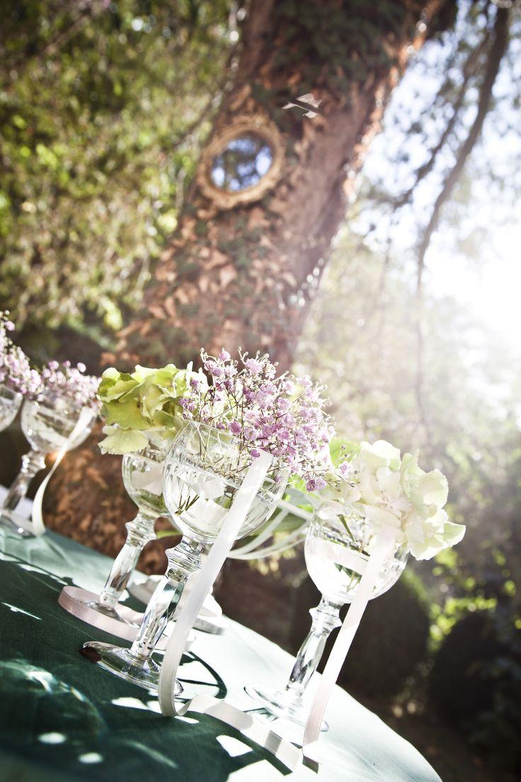 """Бокалы для декорации. Свадьба в стиле """"винтаж"""" в Тоскане / Wineglasses for decoration. Vintage Wedding in Tuscany"""