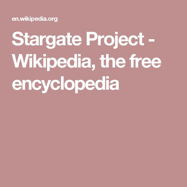 Stargate Project - Wikipedia, the free encyclopedia