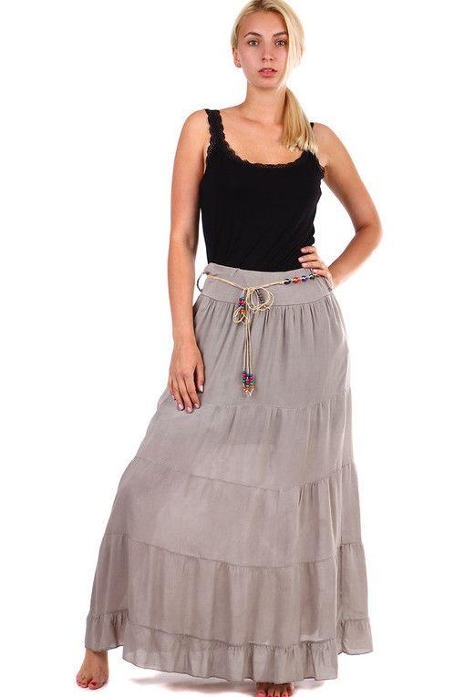 026050caa6 Jednobarevná dlouhá dámská maxi sukně