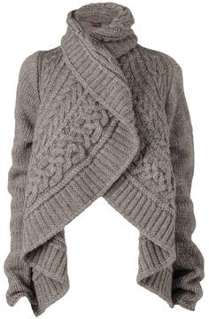 ShopStyle by POPSUGAR: Phase Eight Chunky Cable Cardigan, Oatmeal