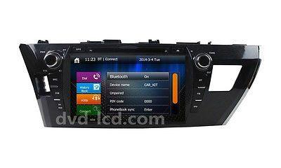 2014-2015 Toyota Corolla Car DVD Player GPS Navigation Radio Headunits Ipod BT