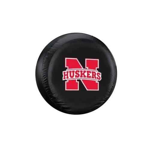 Nebraska Cornhuskers NCAA Spare Tire Cover (Standard) (Black)