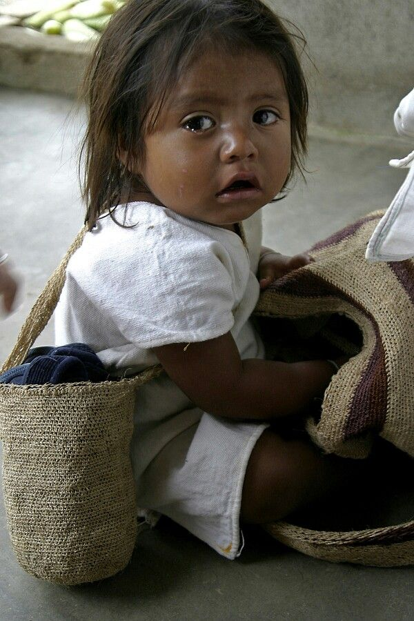 A child from a native tribe in the north coast of Colombia