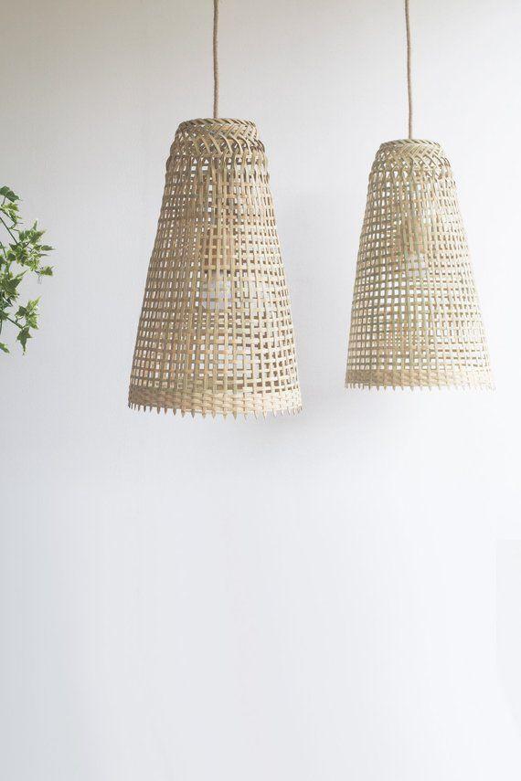 Repurposed Fishing Trap Basket Bamboo Pendant Light Handmade Etsy Bamboo Pendant Light Pendant Light Wooden Pendant Lamp