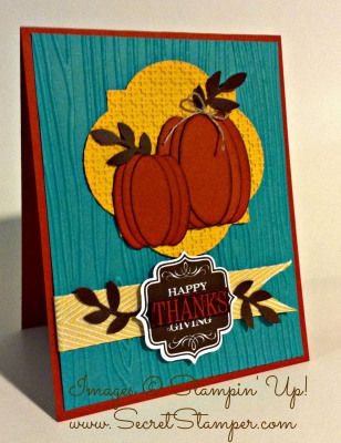 Stampin' Up! Halloween pumpkin punch art and tags 4 you