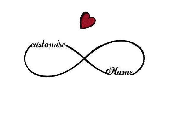 Customised Names Infinity Symbol Temporary TattooNever
