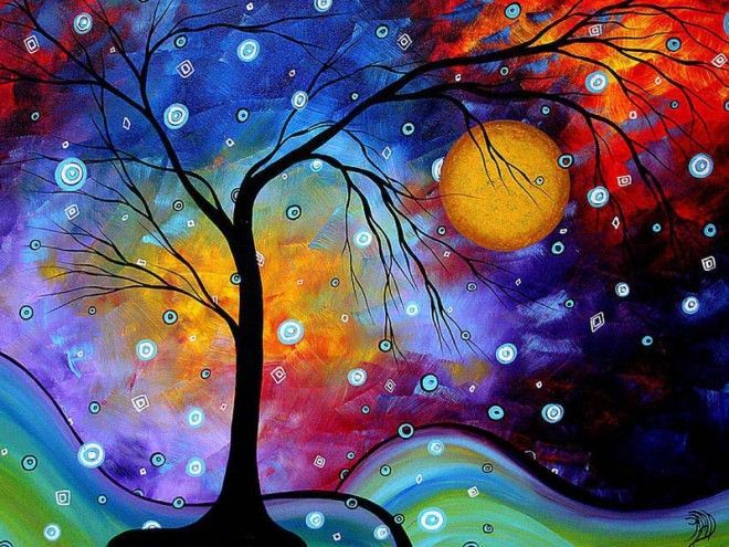 colorful paintings   Colorful Landscape Painting by MADART