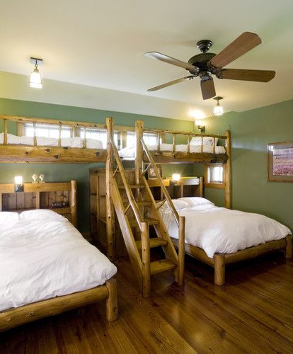 Contemporary Bedroom Bunk Beds Design, Pictures, Remodel, Decor and Ideas -  .neat idea for a guest room or something
